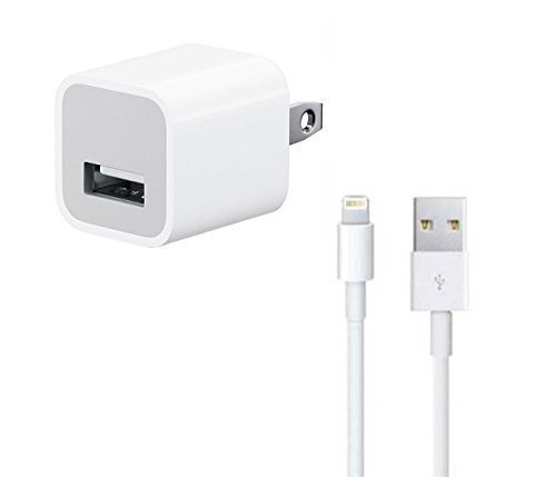 iPhone Power Adapter + Lightning Cable